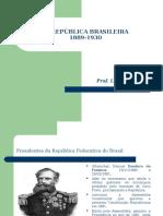 1ª Republica Brasileira