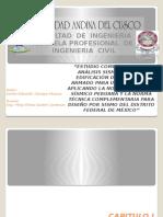 Estudio Comparativo Del Analisis Sismico NTE E.030 y NTCS - 2004