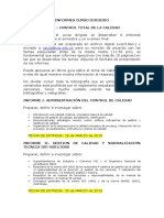 INFORMES CURSO DIRIGIDO