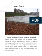 Properties of polymer concrete
