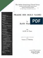 Praise His Holy Name Keith Hampton