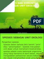PPT ekologi Tumbuhan spesies dan komunitas sebagai unit ekologi