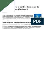Como Desactivar El Control de Cuentas de Usuario Uac en Windows 8 10454 Nlll04