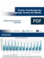 Informe Paro Rexistrado Abril 2010. PTE Costa Da Morte