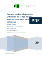 10CU00316A Ejercicios Ejemplos Numeros Aleatorios Visual Basic Rnd Randomize
