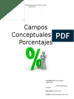 Campos Conceptuales Porcentajes Reyes - Saavedra
