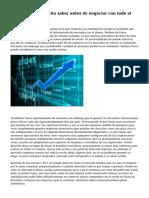 Lo que usted necesita saber antes de negociar con todo el mercado de Forex