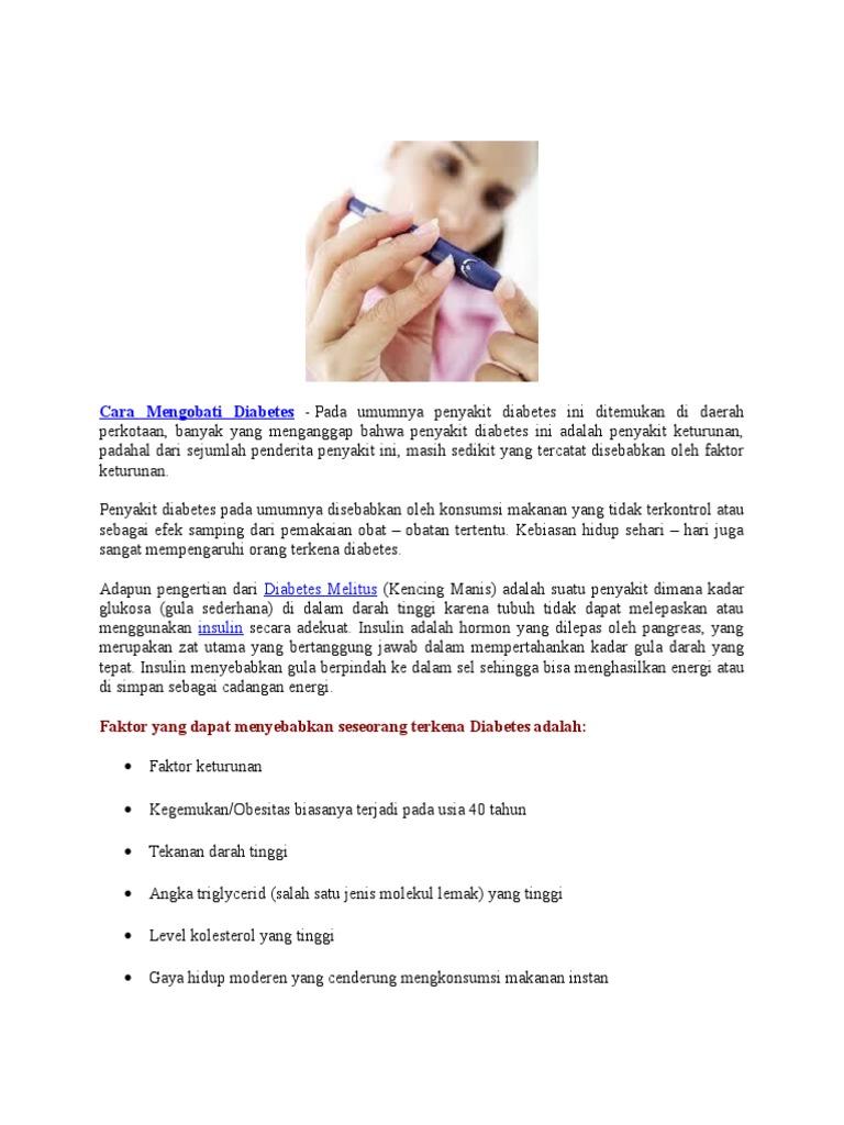 mencegah diabetes kencing manis tahap