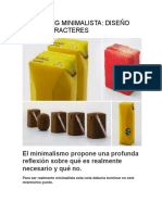 Packaging Minimalista