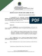 Estatuto Do Instituto Federal Minas Gerais