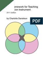 danielson framework for teaching evaluation insturment