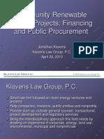 Klavens SSC Energy Workshop 4-29-2010