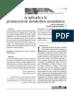 2009. Biotecnología Aplicada a Metabolitos Secundario Lacandonia