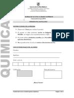 Examen Acceso Quimica UNED 2005