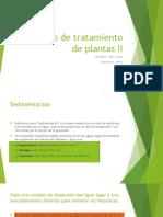 Diseño de Tratamiento de Plantas II Expo