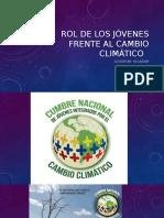 Rol de Los Jóvenes Frente Al Cambio Climático