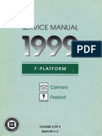 1999 Chevrolet Camaro & Pontiac Firebird Service Manual Volume 2