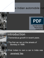 Indusrty analysis of Indian automobile  Industry