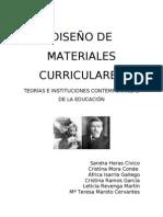 DISEÑO DE MATERIALES CURRICULARES