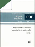 La Imagen Corporativa en La Comunicacion Organizacional; Teorias, Conceptos y Puntos de Vistas