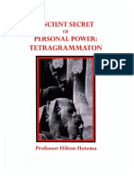 Hilton Hotema - Ancient Secret of Personal Power, Tetragrammaton