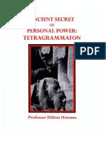 Hilton Hotema - Ancient Secret of Personal Power, Tetragrammaton
