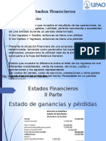 Estado de Resultados del Analisis de los Estados financieros de una Constructora