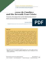 The Proceso de Cambio and the Seventh Year Crisis