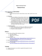 Musical Form Simple Lesson Plan by TPreece