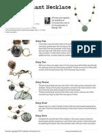 Peace Pendant Necklace Jewelry Making Tutorial from Ornamentea.com