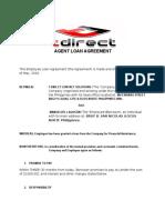 Agent Loan Agreement Final