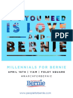 March for Bernie - Press Packet