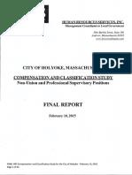 Holyoke municipal salary study by Human Resources Services Inc.: