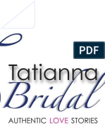 TATIANNA BRIDAL AFFAIR AUDITIONS FORM
