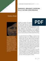 Lenguaje, oralidad y escritura en la cultura afro-peruana