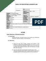 TPreece One Candle WebQuest Lesson Plan PDF