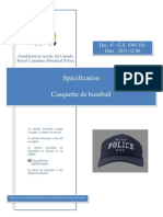 Specification Gs 1045-181 Baseball Cap - French
