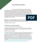 kritische reflectie kwartaal 3 versie 2