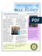 Rotary Newsletter April 27 2010