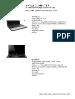 List Laptop