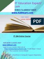IT 284 CART Education Expert-it284cart.com