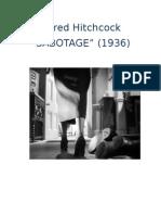 """Ensayo de """"Sabotage, Alfred Hitchcock, 1936"""