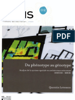 Du Phenotype Au Genotype