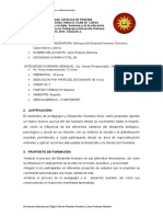 Propuesta Enfoques Del Desarrollo Humano, Derechos, Capacidades y Justicia