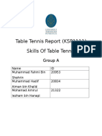 Table Tennis Report Skills of table tennis