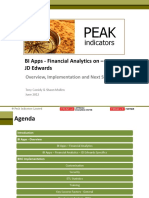 Business Intelligence Applications for Financial Analytics on Jde