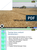 1. Tipologi Desa