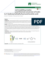 Experimental and modelling studies on the uncatalysed thermal conversion of inulin to 5‑hydroxymethylfurfural and levulinic acid