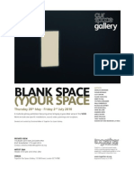 BLANK SPACE (Y)OUR SPACE EXHIBITION CATALOG