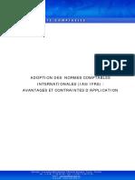 Adoption Des Normes Ifrs